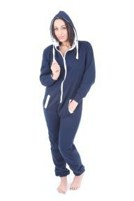 Navy Blue Plain Hooded Cotton Mix Mens Women's Hooded Adult Onesie Perfect for printing. CUSTOMISATION AVAILABLE