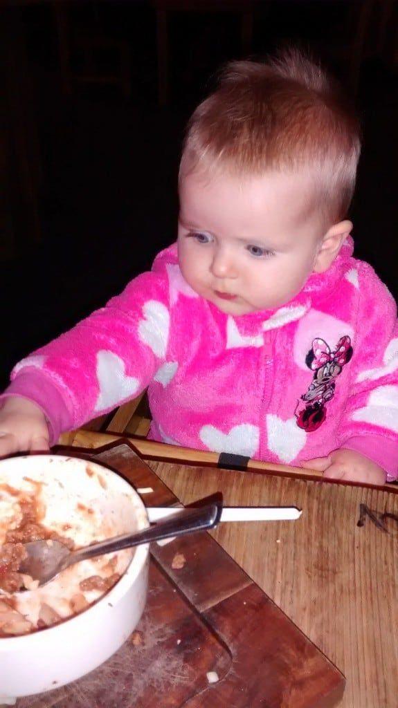 Lia eating
