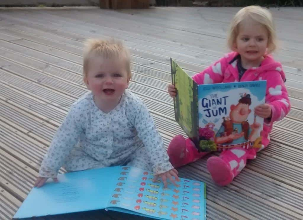 Bedtime stories on the decking