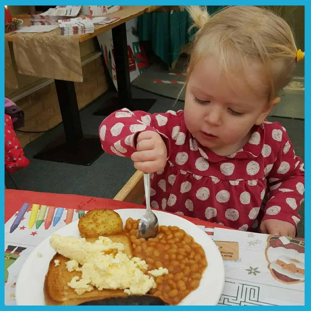 Wyevale Garden Centres breakfast with Santa