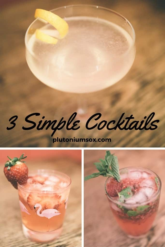 3 simple cocktails perfect for Valentines day.