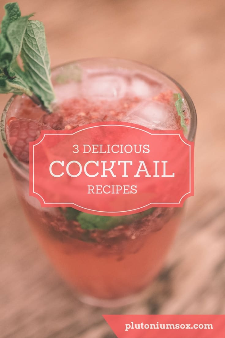 3 easy cocktail recipes | Cocktails can be a bit of a minefield of ingredients. These three simple cocktails have only a few ingredients, all of which can be purchased at a local supermarket. They are fresh, refreshing and quick and easy to make. All three are alcoholic cocktails suitable for adults only and perfect for parties or dinner dates.