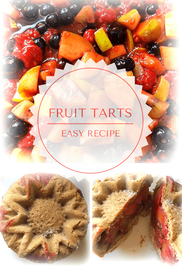 This is a lovely recipe for sweet, fresh fruit tarts that look fabulous. This is a dessert food so easy to make that children will be able to get involved. They are just as tasty as they look.
