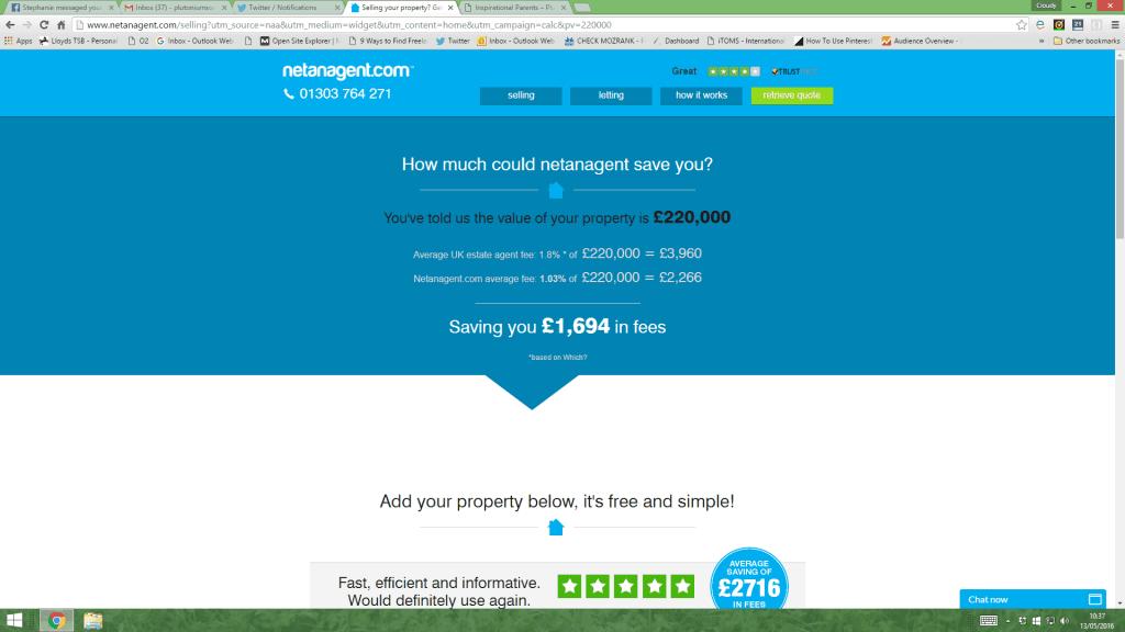 A review of Netanagent estate agent comparison website