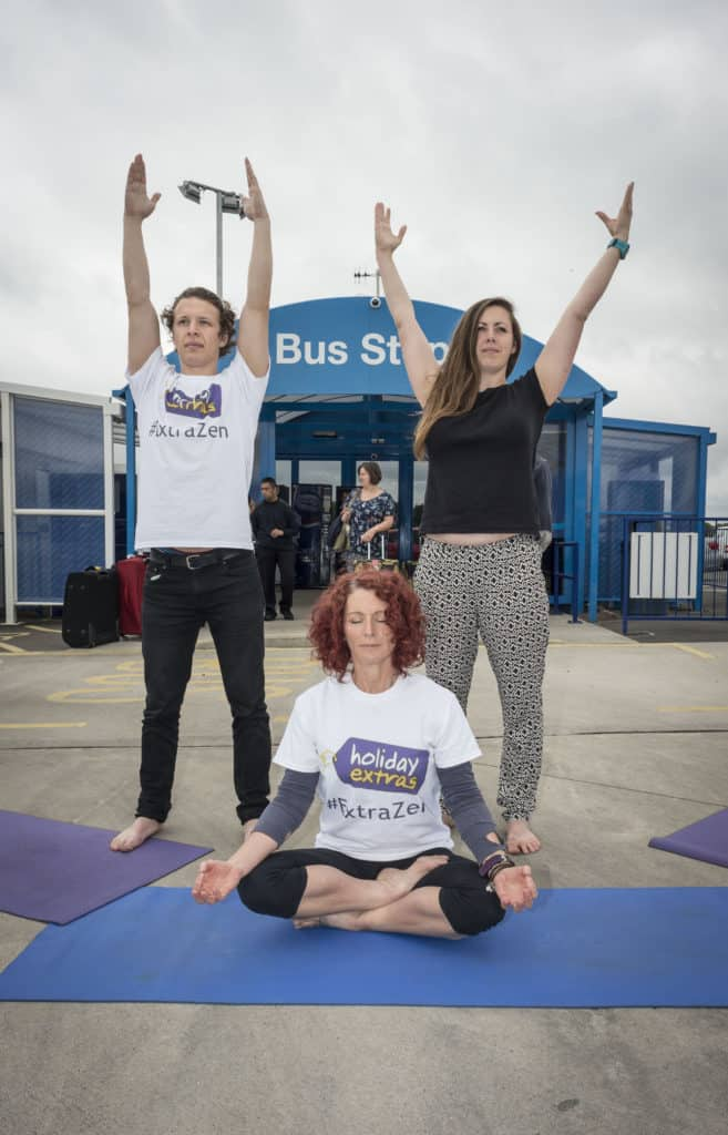 Holiday Extras yoga classes at Airparks Birmingham.
