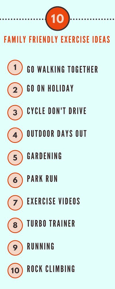 10 ways to fit in exercise when you have a family. Sometimes it's not possible to find childcare but that doesn't mean you can't keep fit.