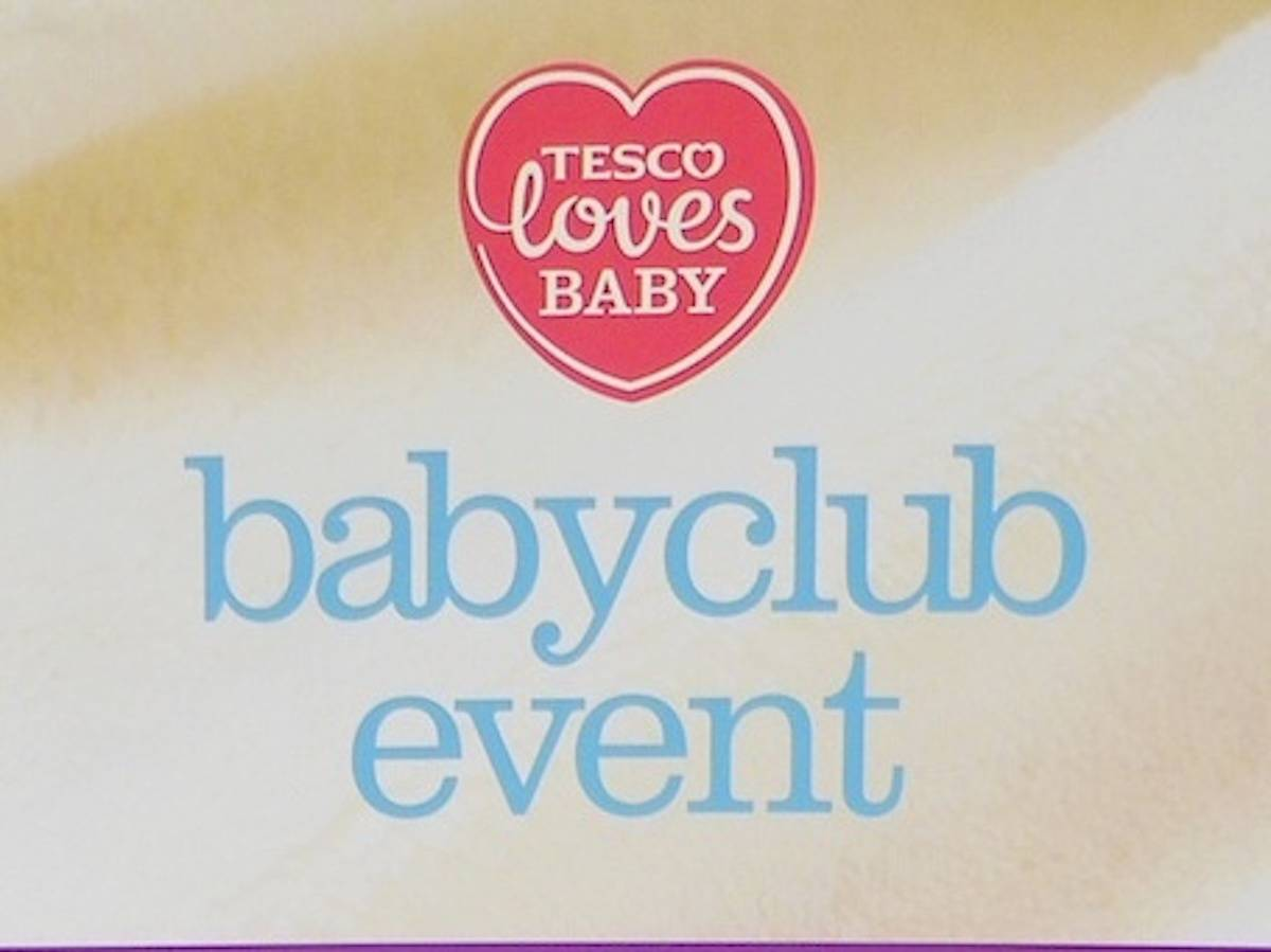 Tesco Baby Club Event - sign up to the baby club to receive deals and advice for expectant parents and parents of babies and toddlers