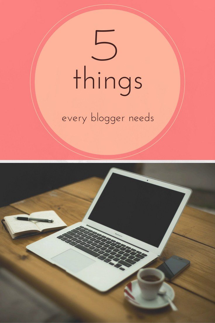 When you start blogging, you will be advised to invest in various different bits of equipment and tools. But to have a successful blog there's not that much you need - and you probably already own most of it. Here are the 5 things every blogger needs. The rest of it you'll manage without!