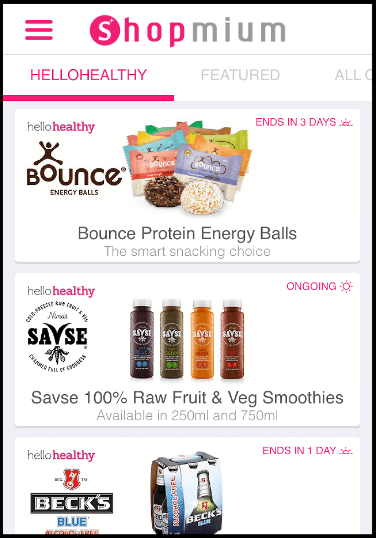 Hellohealthy on Shopmium review and competition news