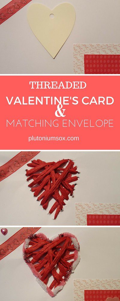 Are you looking for a Valentine's card that is unique, so easy to make that the children can get involved and yet professional looking? This threaded Valentine's card with matching envelope can be adapted to your own design so you know it really is one in a million for the one you love.