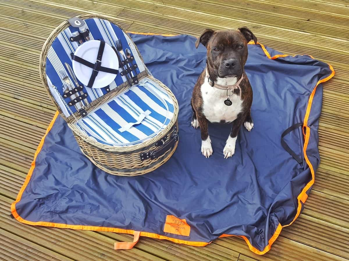 The Brug is both a bag and a rug. It packs down small enough to slip into a handbag and can be used to carry things or sit on. It is both waterproof and washable and is the perfect multi-use item.