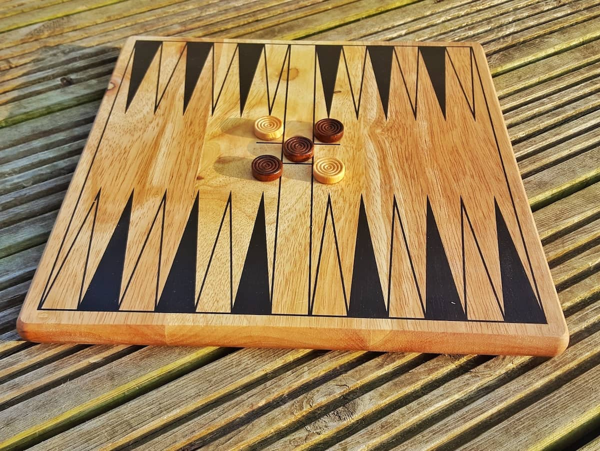 A review of the five in one board game collection from What2buy4kids. The set contains drafts, chess, tic-tac-toe, back gammon and dominoes. All made from wood.