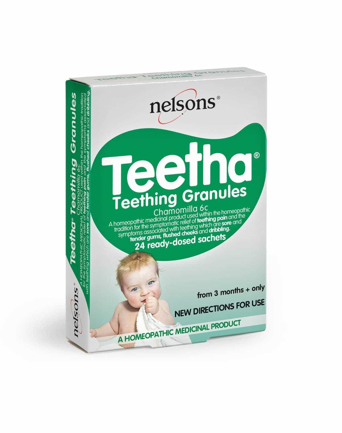 The day we asked google whether our baby could have dentures. Plus some advice on looking after tiny teeth from Nelsons Teetha Teething granules.