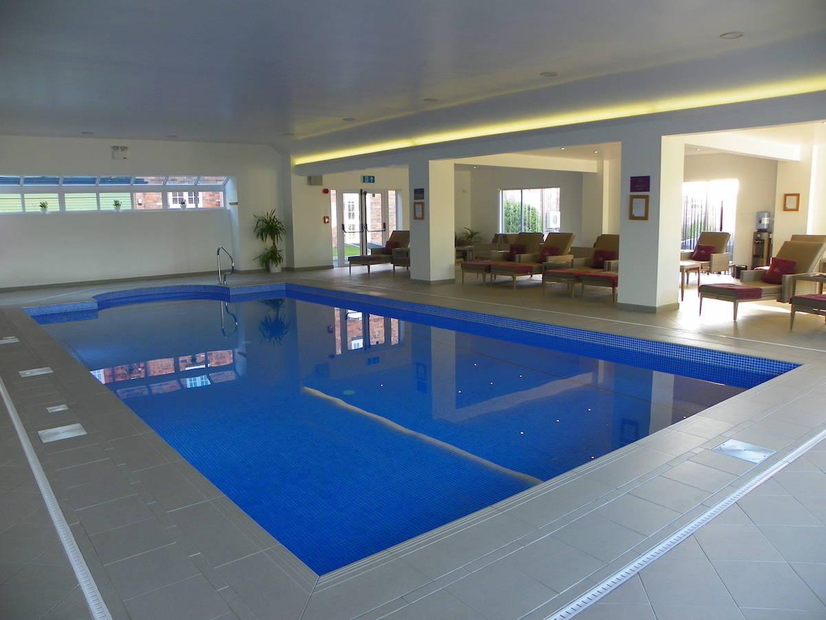 swimming pool to test chlorine resistant swimwear