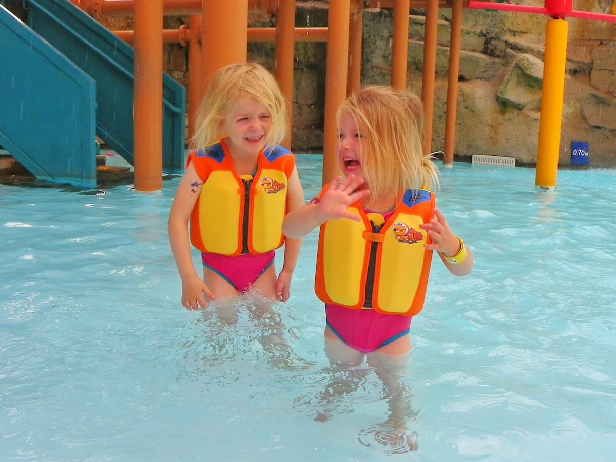 Konfidence swim jackets at Alton Towers waterpark