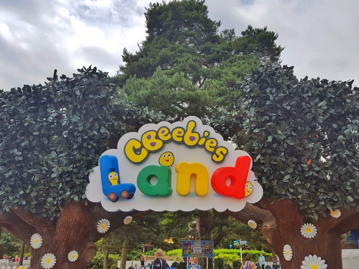 Things to do West Midlands February half term 2019 Alton Towers cBeebies Land sign