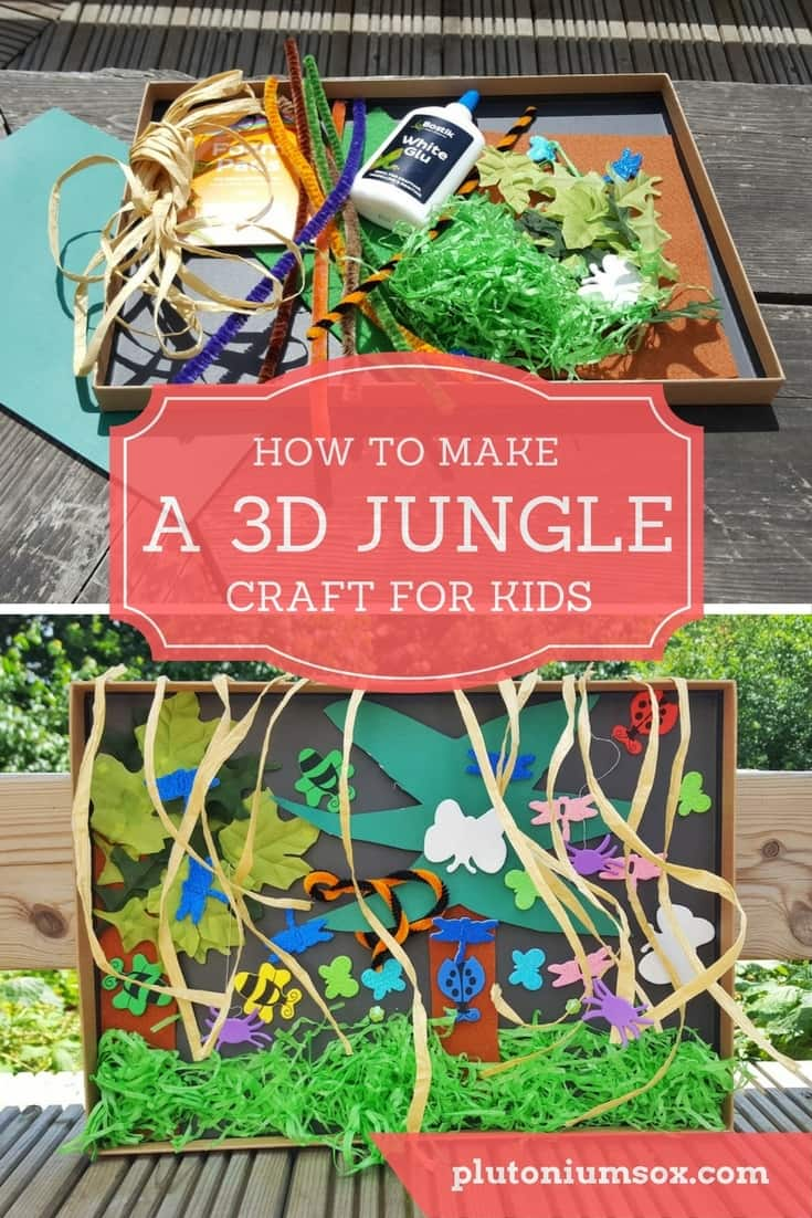 Children's crafts | How to make an easy 3D jungle. This craft is suitable for young children to do alone but under strict supervision due to the requirement to use scissors. A simple but effective craft that makes an impressive 3d jungle. Step by step instructions and materials list included.