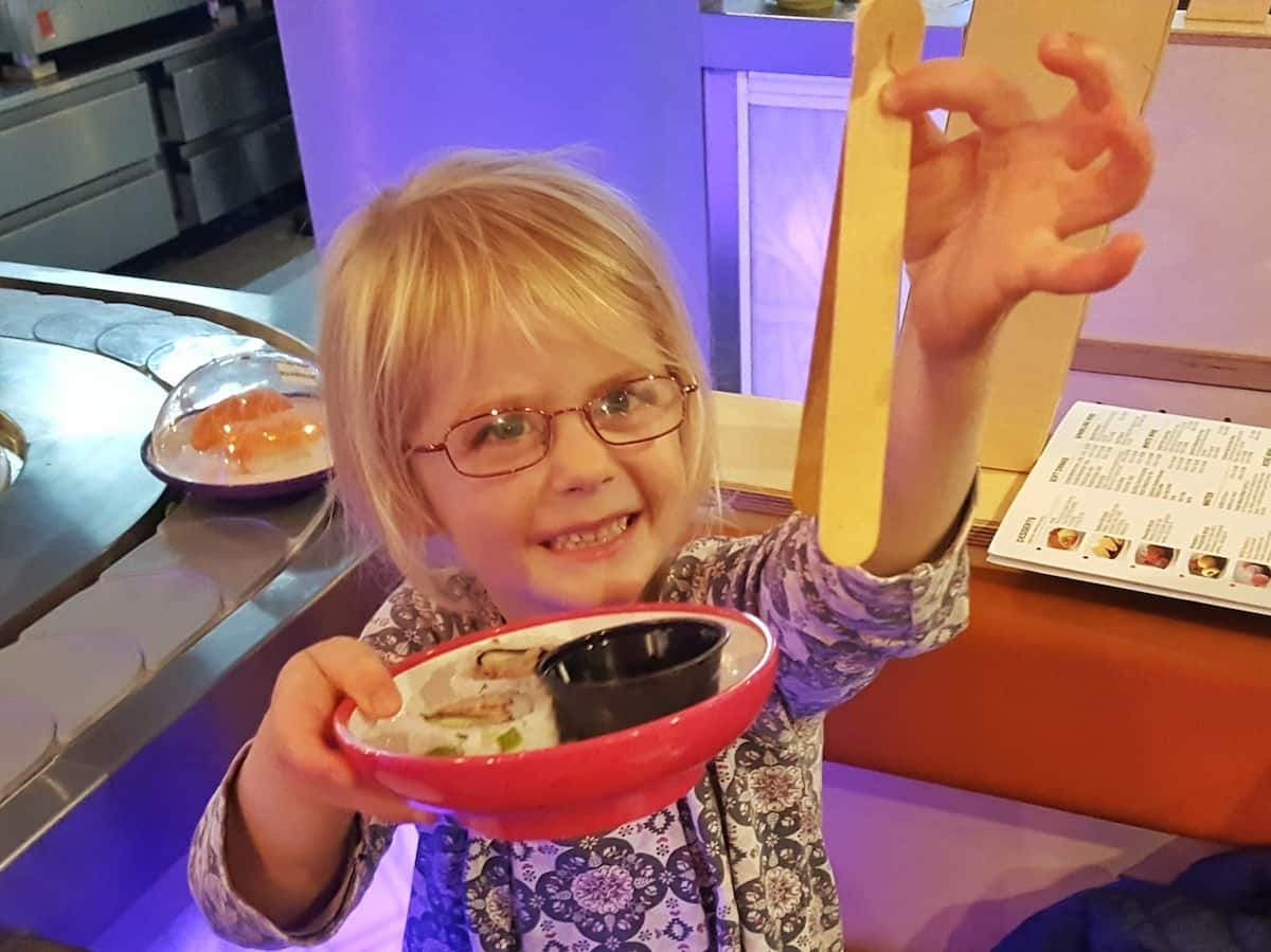 Checking out the brand new YO! Sushi restaurant in Worcester