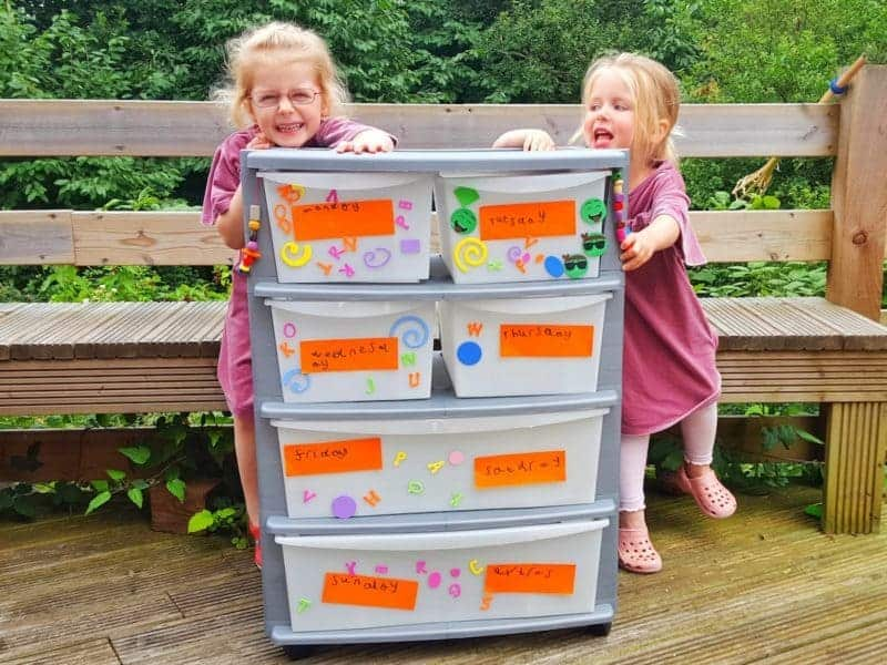 Back to school daily organiser | If mornings are chaotic in your house with lost belongings and disorganised children, your whole family could benefit from this incredibly simple daily organiser. Simply label each drawer with a day of the week and pre-fill for everything the kids will need for school each day. Anything forgotten is now the children's responsibility as they have the independence to get themselves ready.