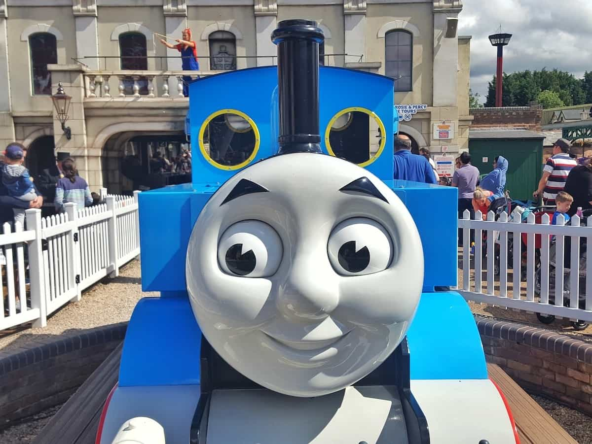 Thomas the Tank Engine train at Drayton Manor Park in the West Midlands