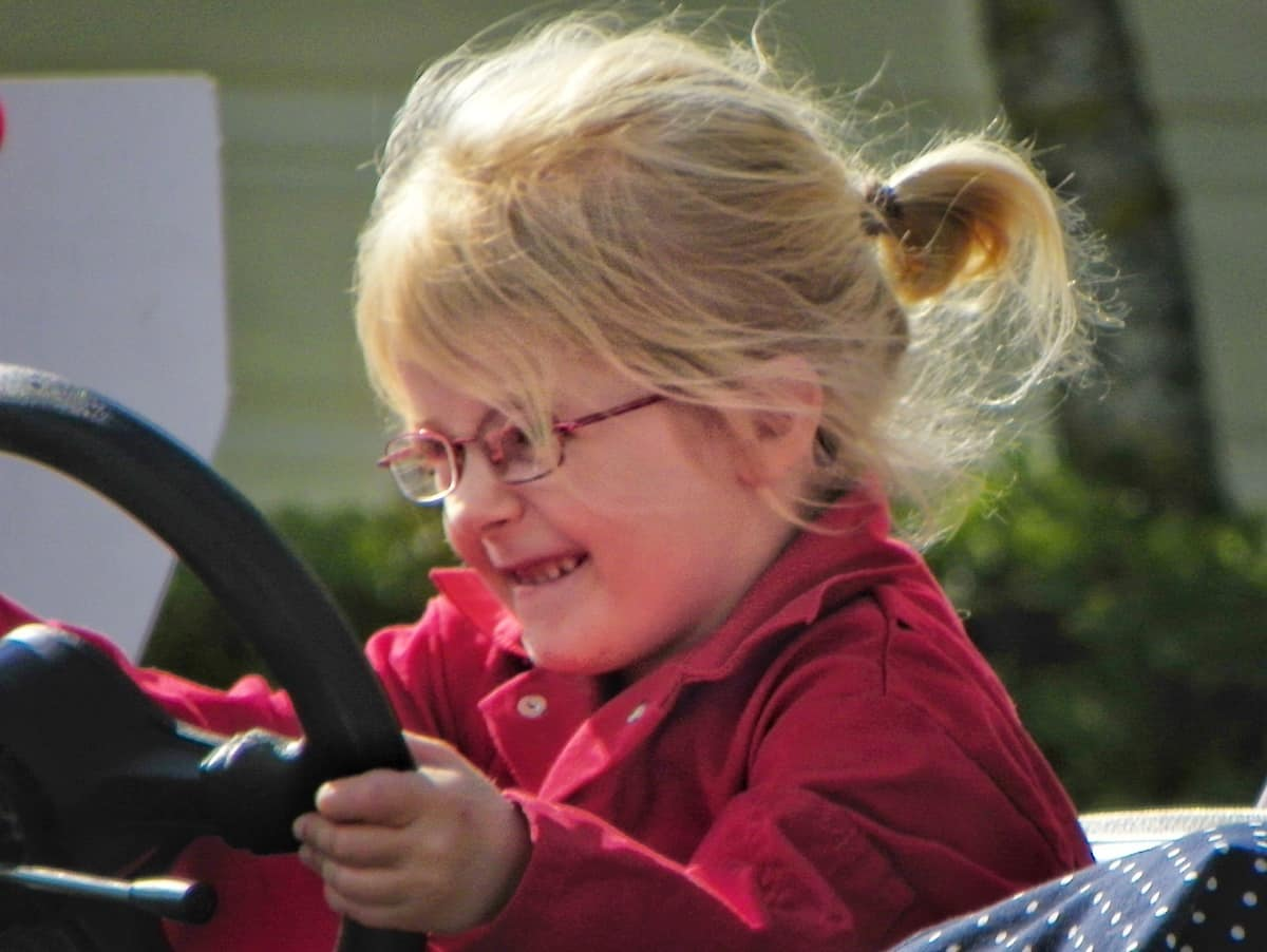 Learning to drive at the age of five