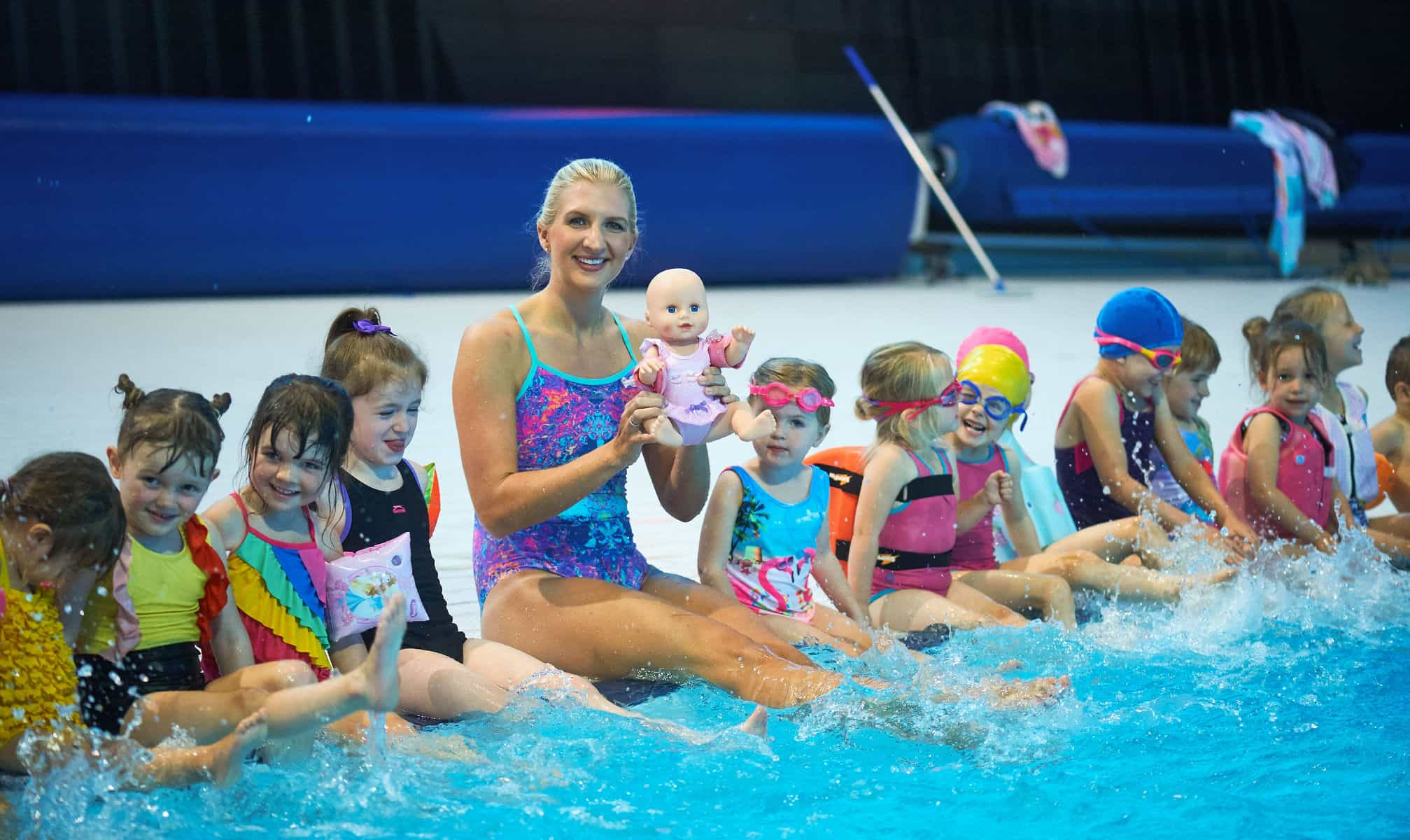 Learning To Swim With Rebecca Adlington And Baby Annabell