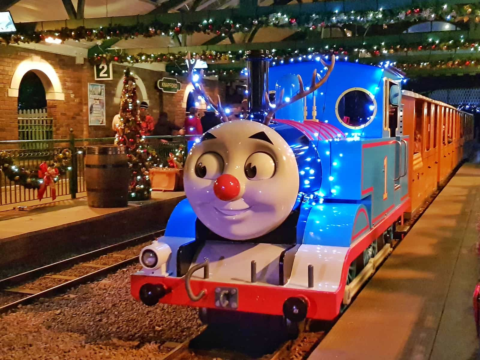 West Midlands Christmas days out 2018 Thomas lit up with festive lights at Drayton's Magical Christmas