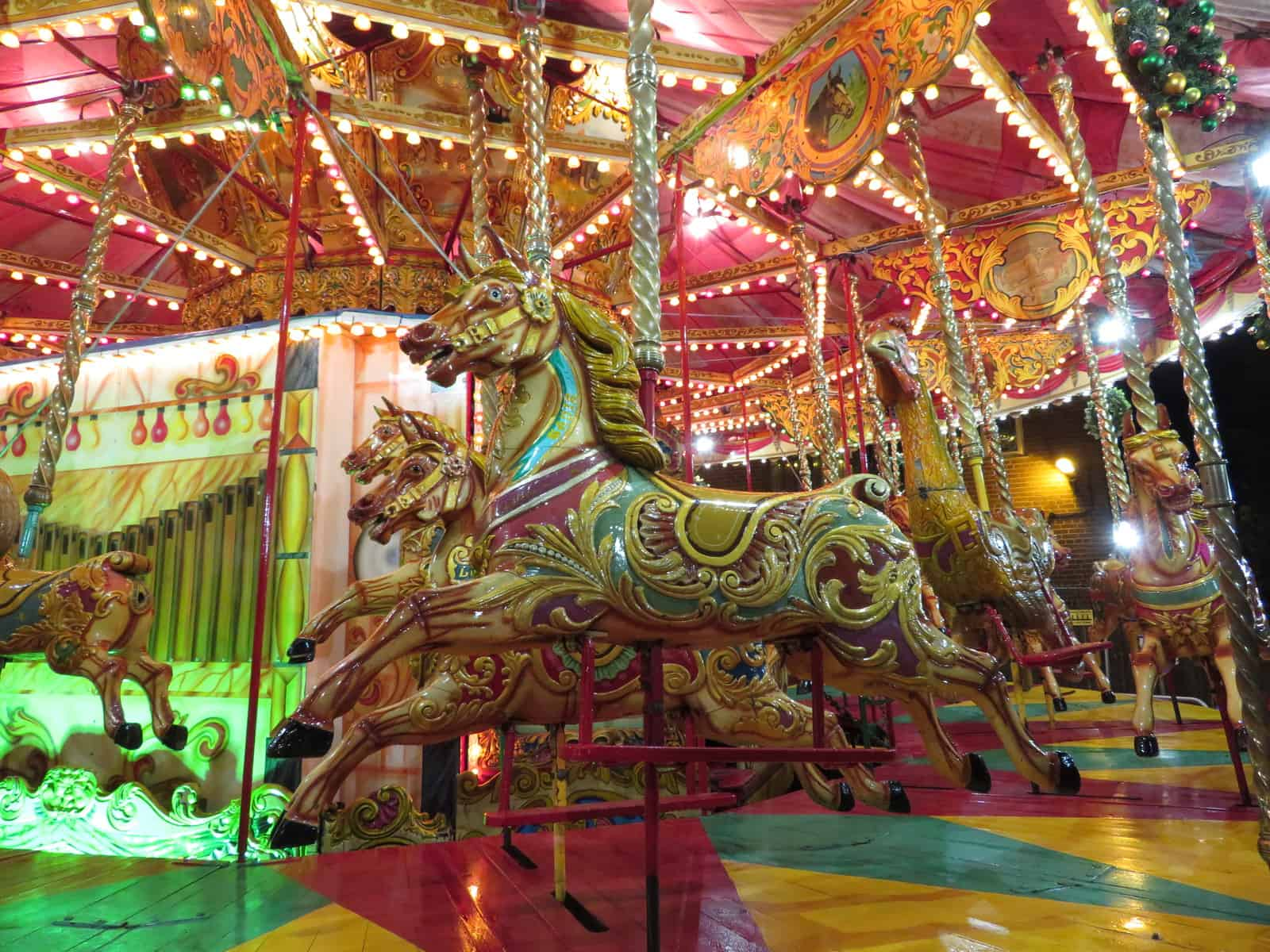 A vintage carousel