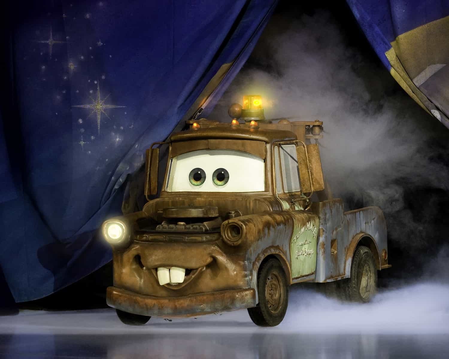 Car from Cars on ice as part of Disney on Ice Worlds of Enchantment