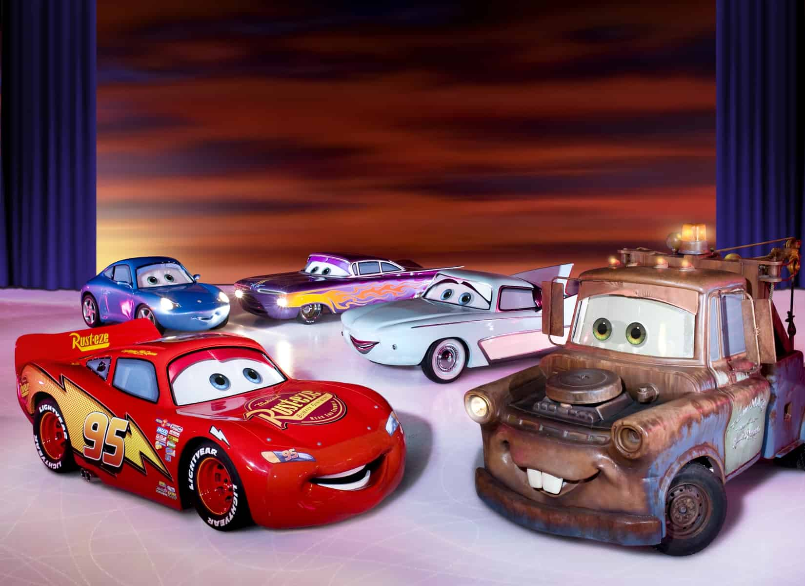 Cars on ice as part of Disney on Ice Worlds of Enchantment