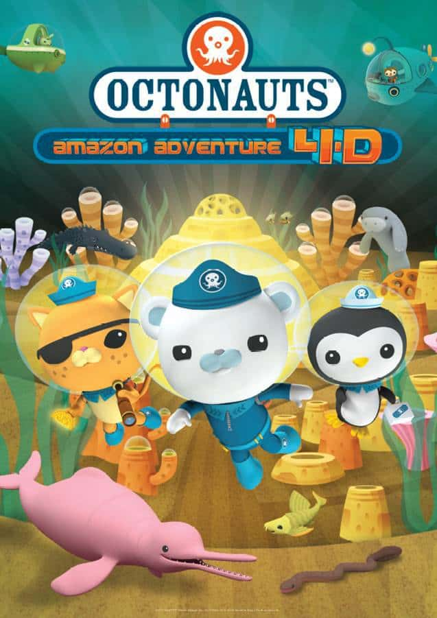 poster advertising octonauts 4D film