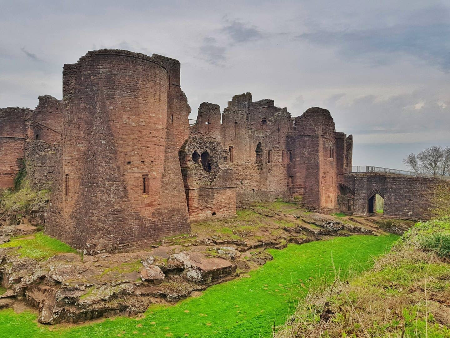 Dog friendly West Midlands  Outer walls of Goodrich Castle