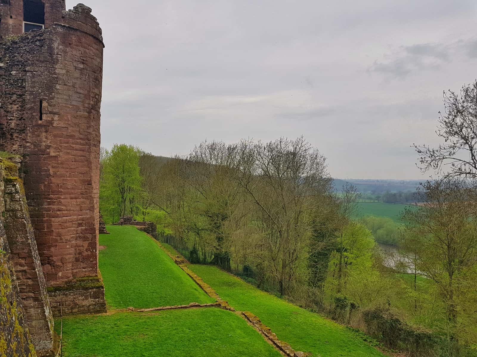 Goodrich Castle and countryside beyond
