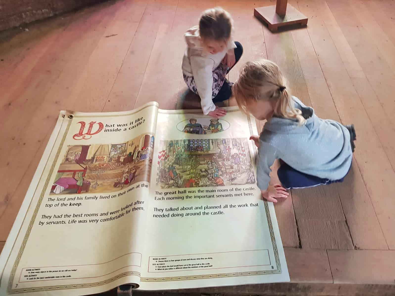 Children reading an oversized book