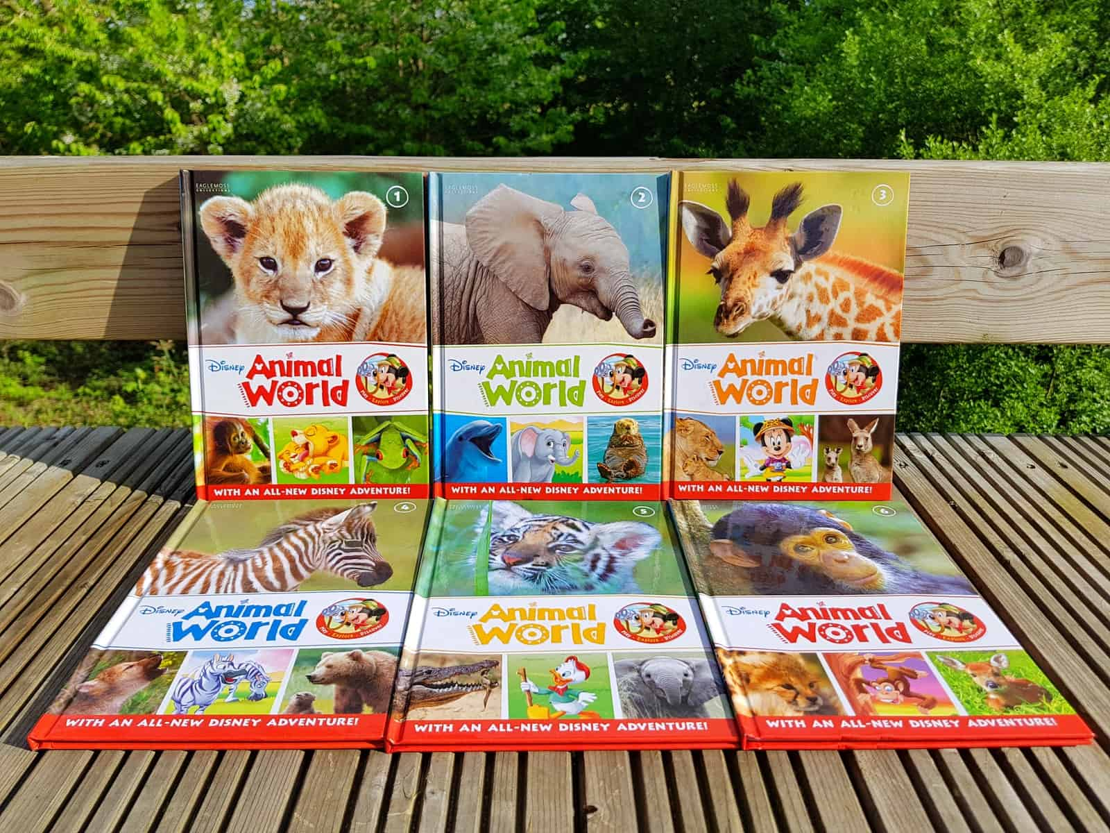 Disney Animal World books - set of six