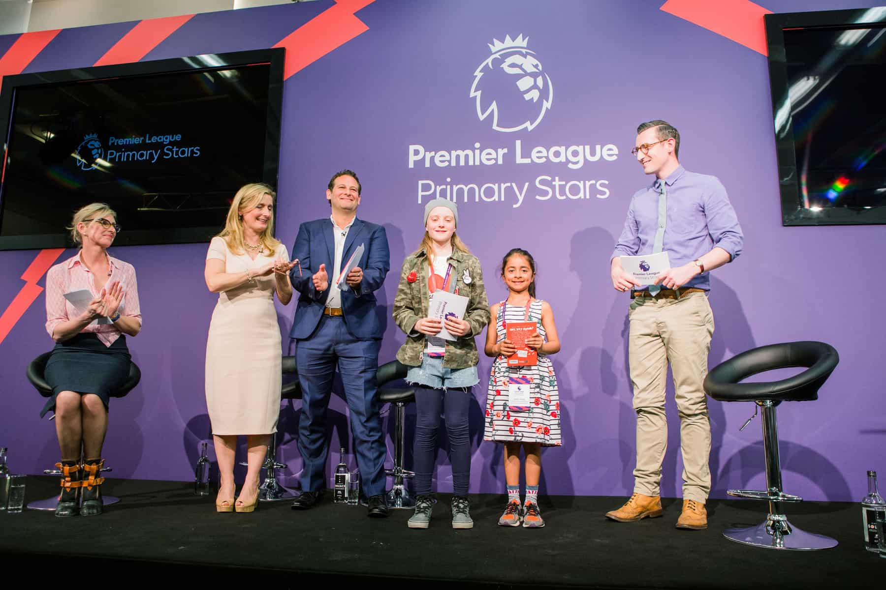 Premier League Primary Stars Writing Stars Competition Winners with judges