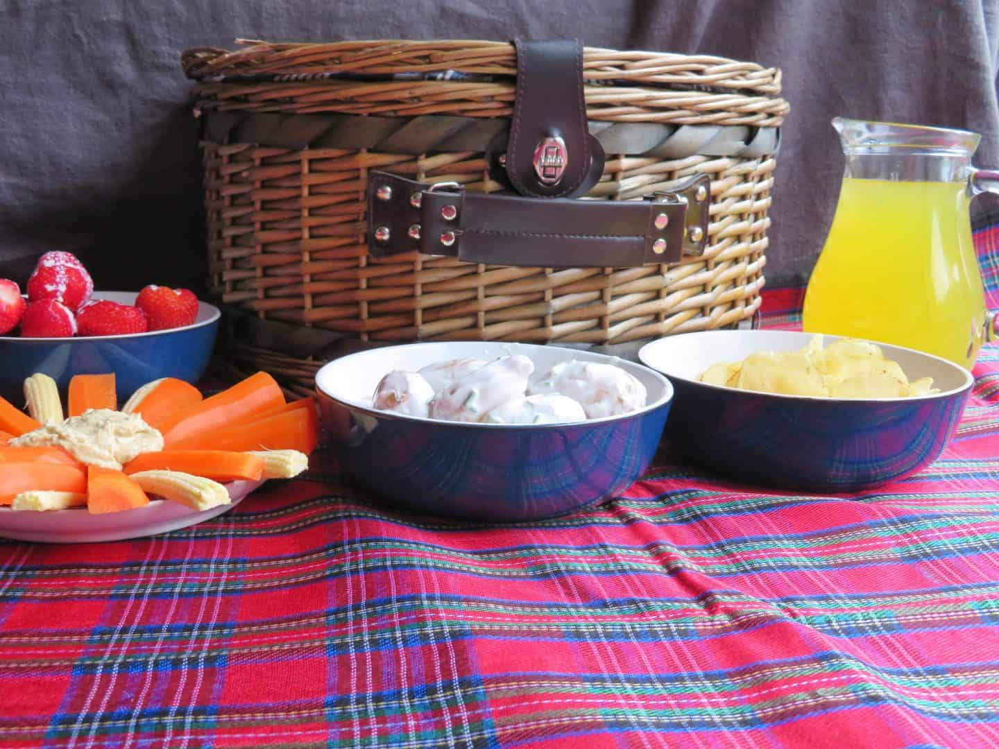 An indoor picnic with Tesco Jersey Royal New Potatoes