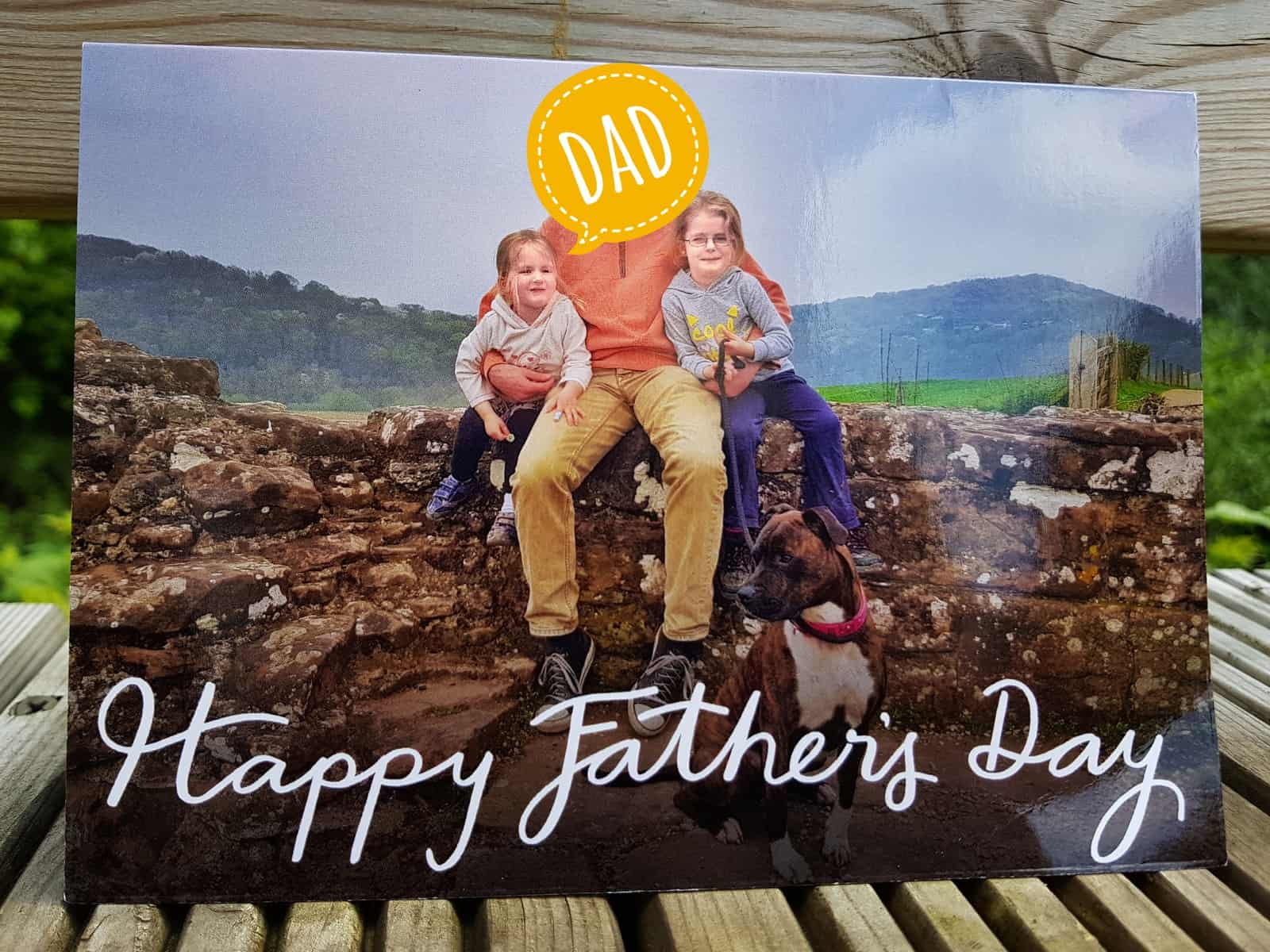 Personalised father's day card from snapfish