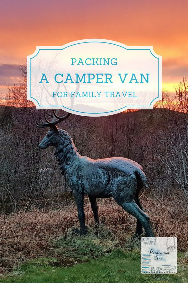 Packing a camper van for family travel | If you travel in a camper van with children, you'll need a packing list to make sure you have everything you need. Campervan storage is at a premium and essentials compete with home comforts. Here are some packing hacks to make campervan living more comfortable. #travel #campervan #packing #familytravel #uktravel