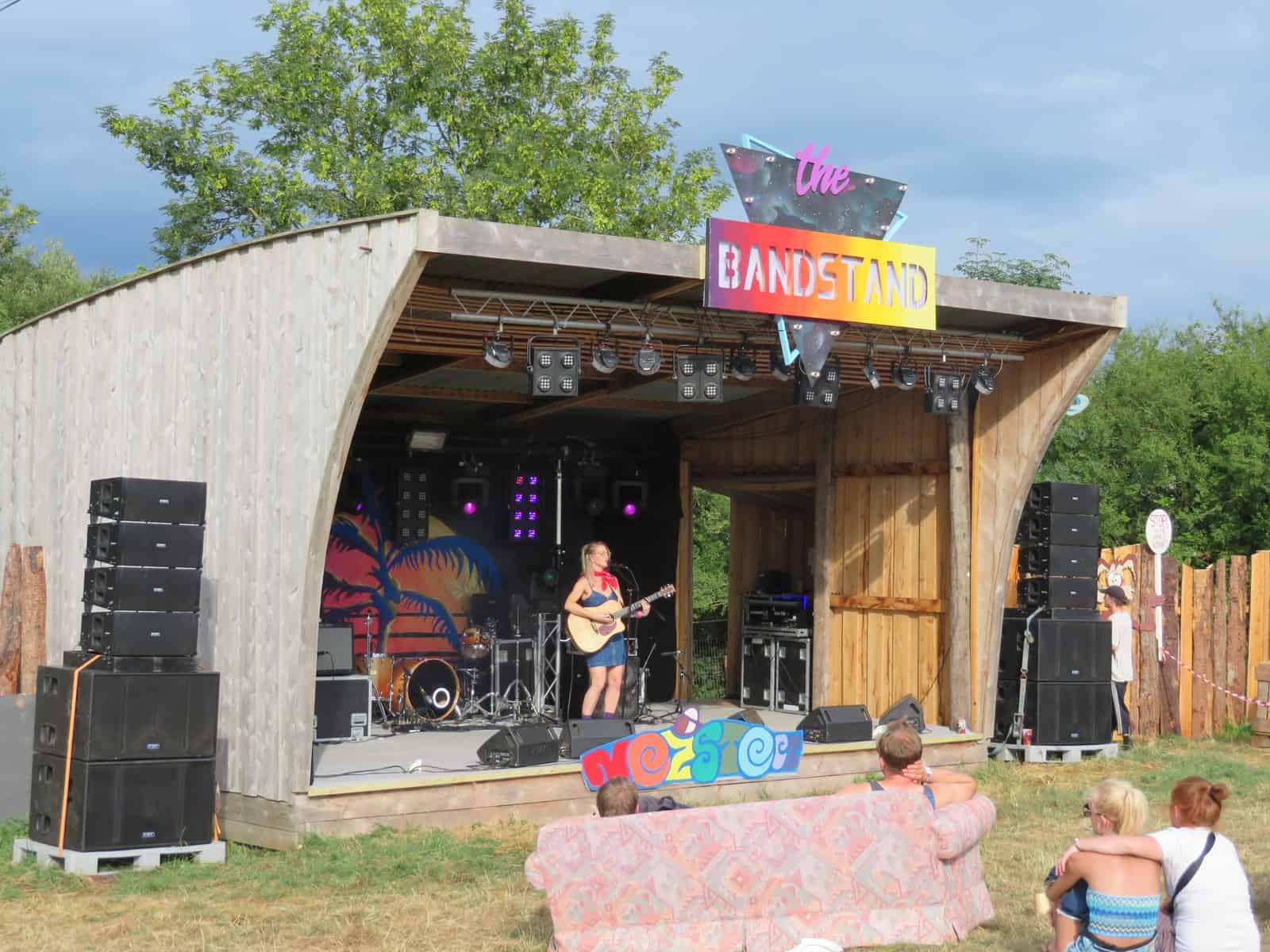 Nozstock the hidden valley festival - bandstand stage