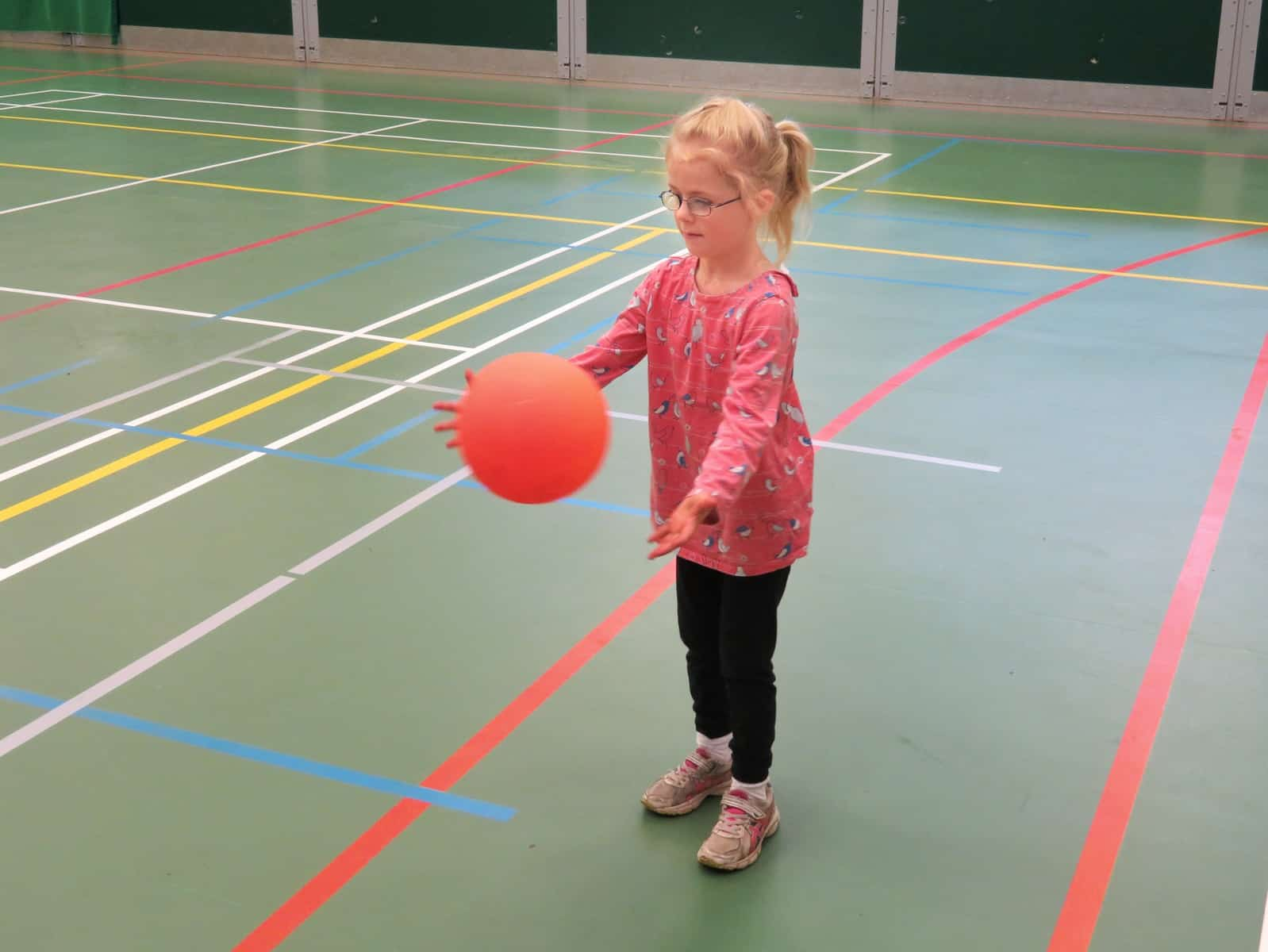 Super Camps Malvern College little girl playing ball