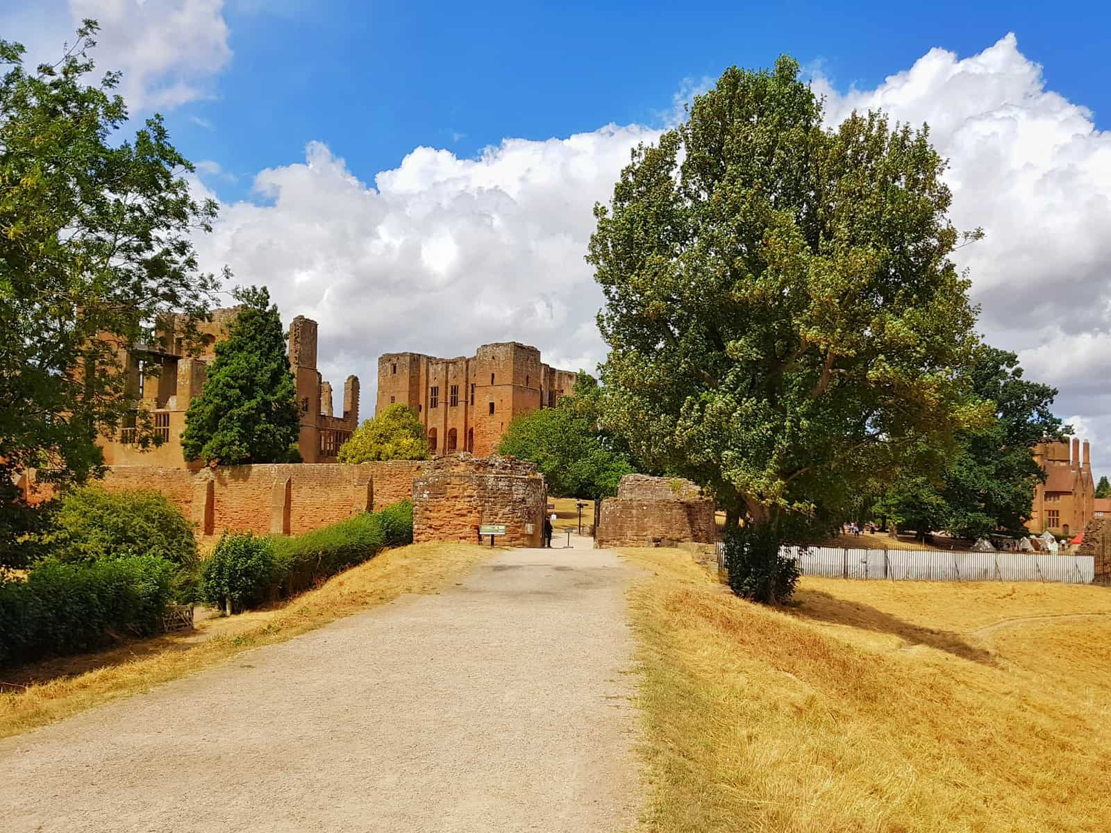 Kenilworth Castle Warwickshire exterior by public entrance