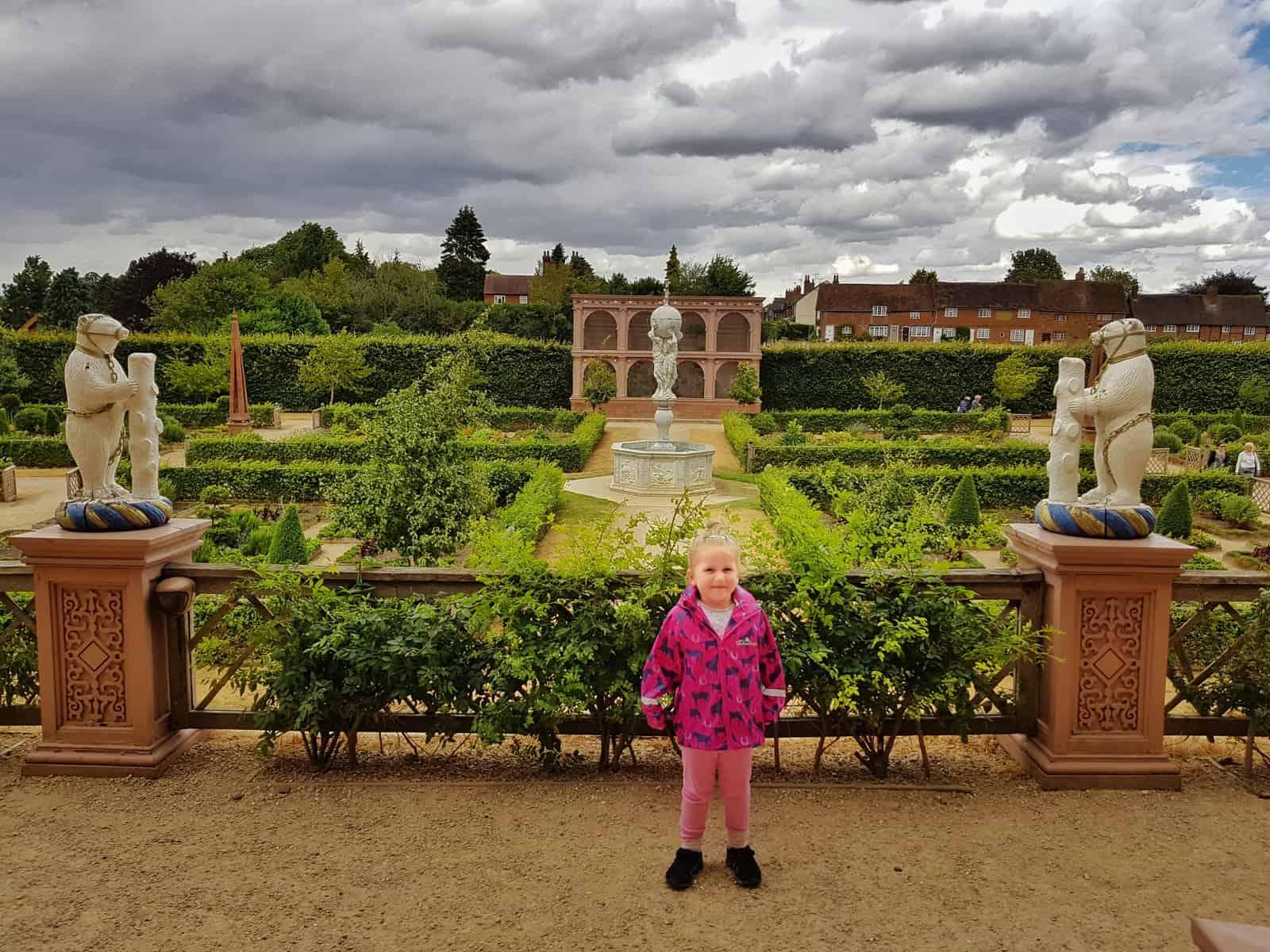 Kenilworth Castle Warwickshire formal gardens