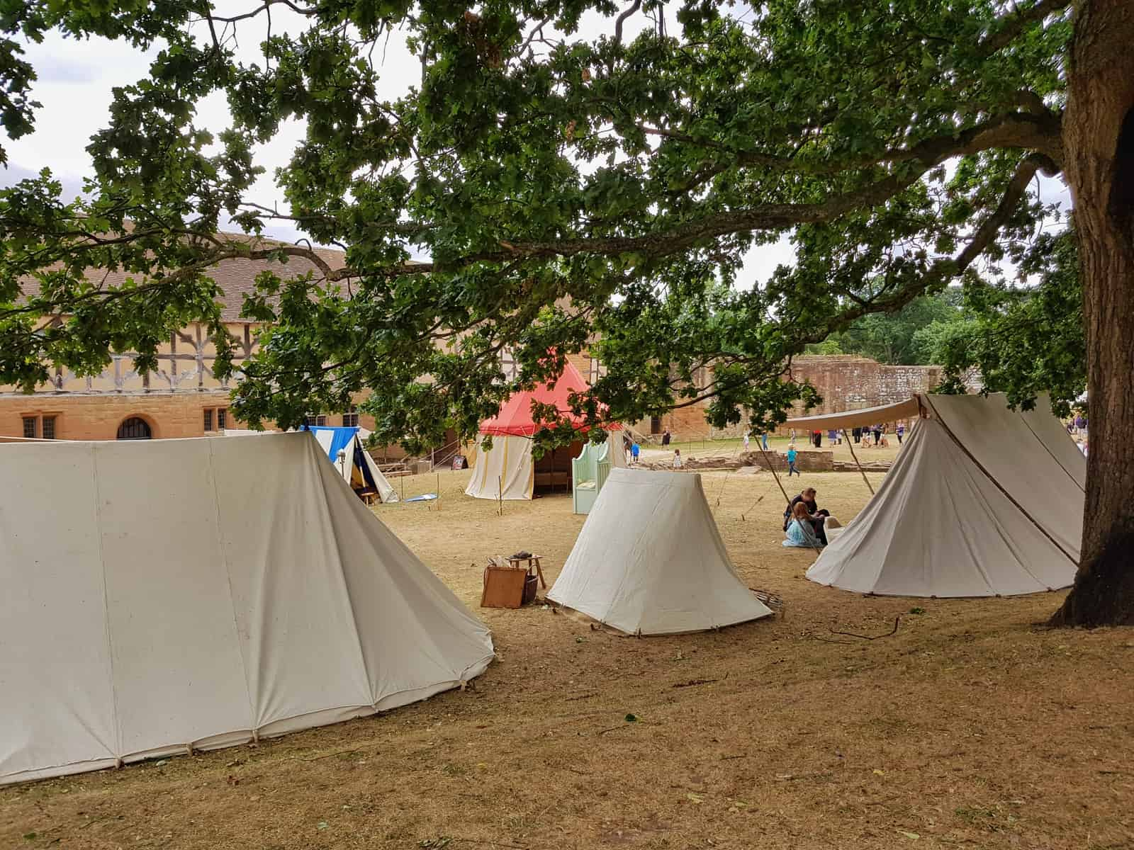 Kenilworth Castle Warwickshire Norman Castle show tents