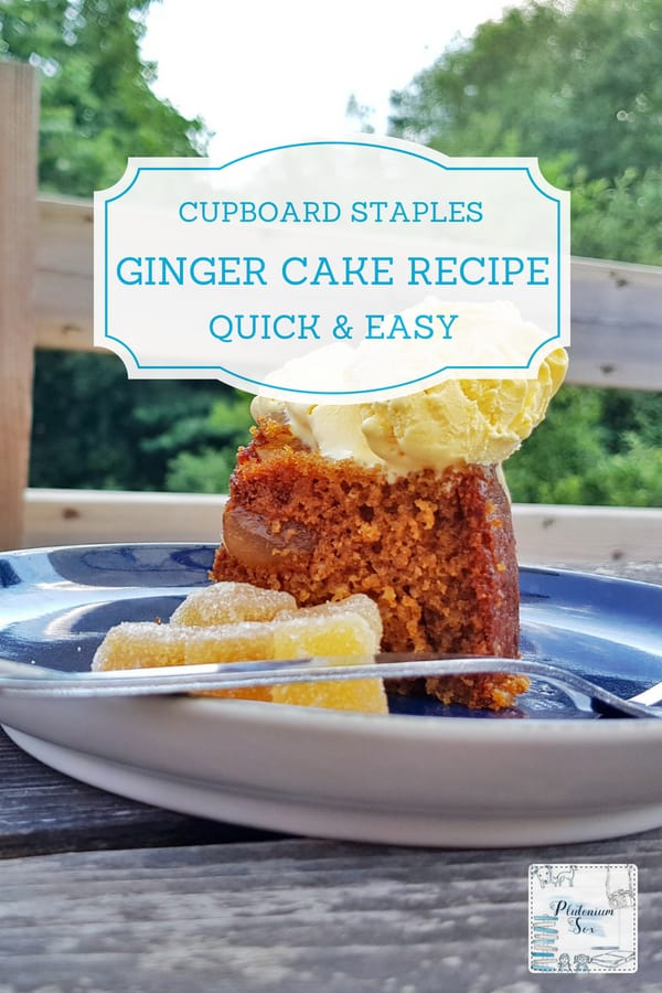 Easy ginger cake recipe | If you are looking for a quick and easy ginger cake recipe, this simple cake made with Opies crystallised stem ginger and stem ginger in syrup is perfect. Ginger desserts like this have a strong taste, think Jamaican ginger cake crossed with lemon drizzle cake. #recipe #easyrecipes #gingercake #cakerecipe #baking #recipes