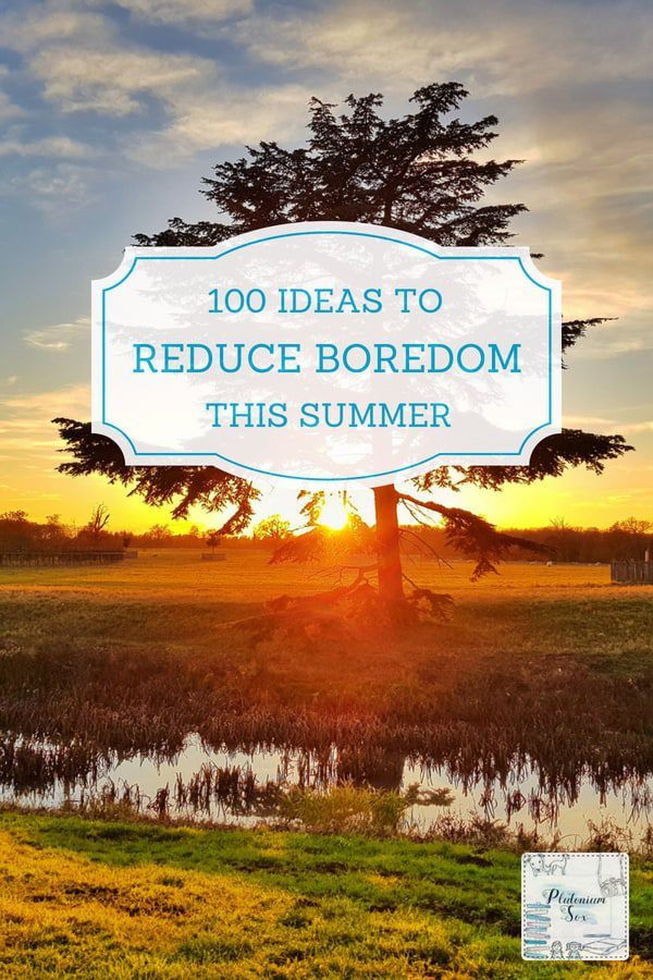 Summer holiday ideas | If your children are likely to get bored this Summer during the six week break, here are 100 ideas to keep them busy. They vary between things that the children will love like going to the beach, to things that will make them wish they'd never complained of being bored. Put them all into a jar and take your chances! #summerholidays #summer #familyfun #daysout #activities
