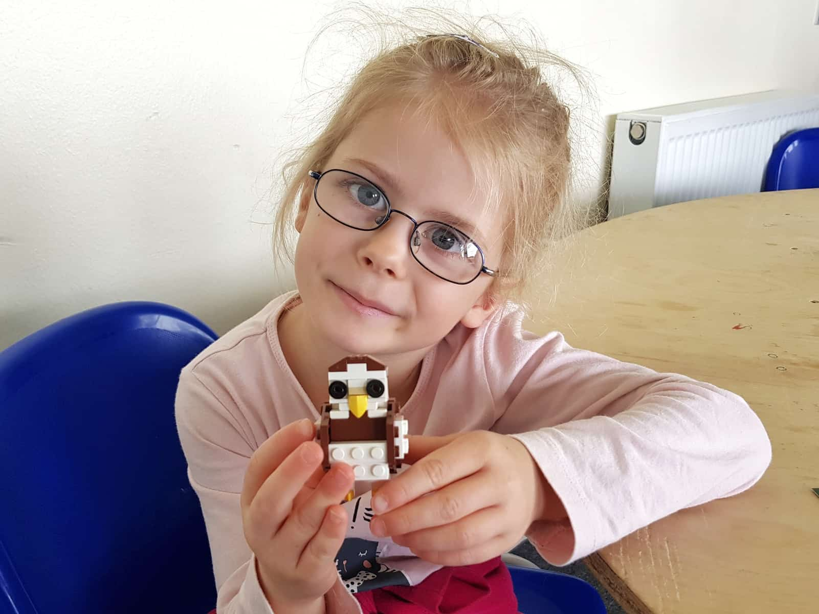 WWT Slimbridge, Gloucestershire - little girl with lego owl