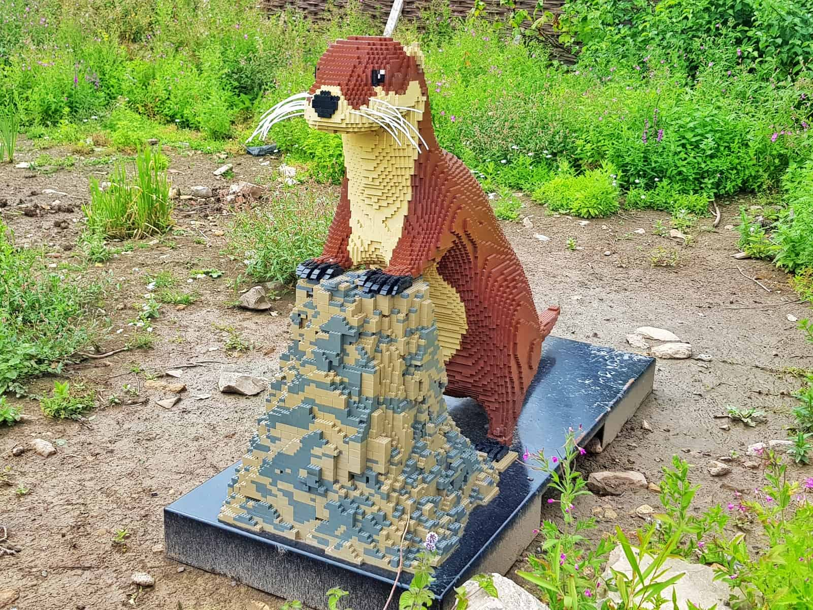 WWT Slimbridge, Gloucestershire - giant lego otter