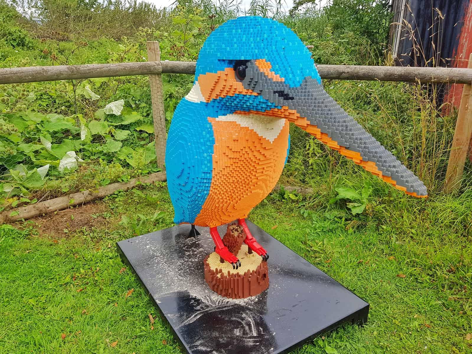 WWT Slimbridge, Gloucestershire - giant lego kingfisher