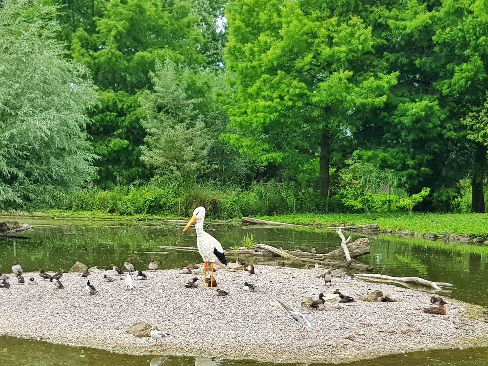 WWT Slimbridge, Gloucestershire - giant lego heron